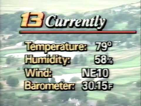 August 5, 1991 - Indianapolis Weather Forecast from Bob Gregory