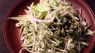Салат из свежей капусты с зеленым горошком  - Ресторан