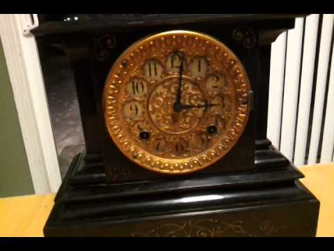 ansonia cast iron mantle clock circa - Mantle Clock