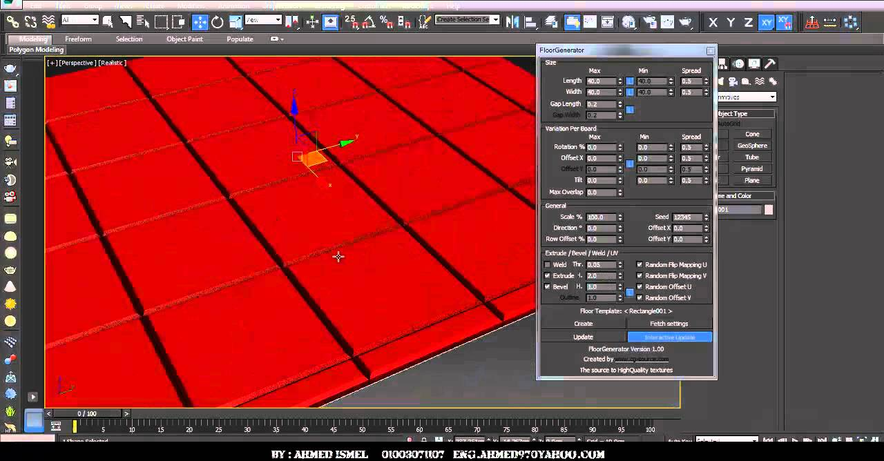 floor generator script for 3ds max - YouTube