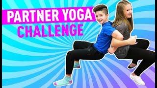 Partner Yoga Challenge! | Brock and Boston