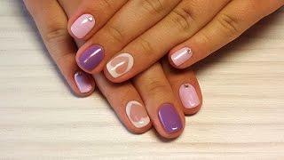 Дизайн ногтей гель-лак shellac - Роспись ногтей + стразы (видео уроки дизайна ногтей)