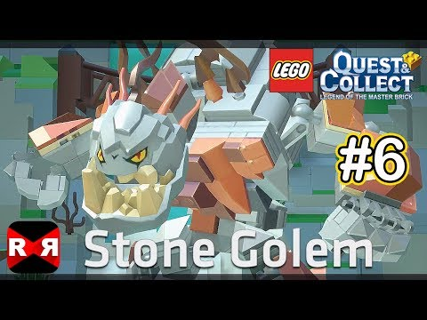Stone Golem Boss Fight - LEGO Quest & Collect - iOS / Android - Gameplay Part 6