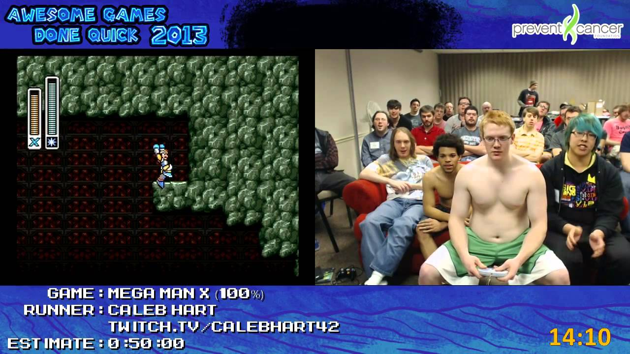 Mega Man X Speed Run 0 36 51 100 Live At Awesome