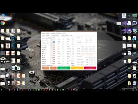 Ryzen DRAM Calculator - new instruction ! :) - YouTube