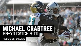 Michael Crabtree's Amazing 56-Yard Grab & TD Catch!   Raiders vs. Jaguars   NFL