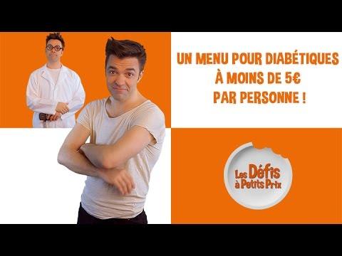 Menu pour diabétiques à 5 € - Défis à petits prix