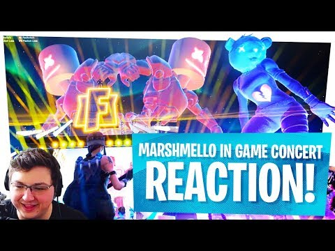 FIRST LOOK at the MARSHMELLO CONCERT in FORTNITE'S PLEASANT PARK - LIVE REACTIONS