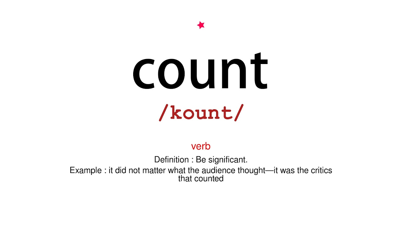 How to pronounce count - Vocab Today