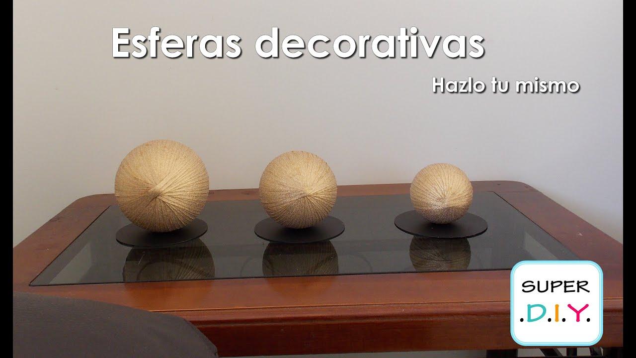 Como hacer esferas decorativas elegantes f cil y econ mico for Decoracion del hogar facil y economico