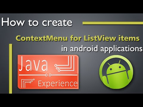 Create Contextmenu For ListView Items In Android