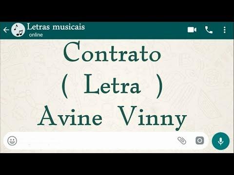 Contrato - Letra - Avine Vinny