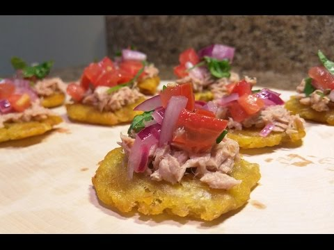 How To Make Plantains with Tuna Appetizers