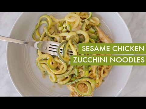 Chicken and Avocado Zucchini-Noodle Bowl