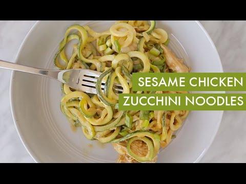 Chicken and Avocado Zucchini-Noodle Bowl