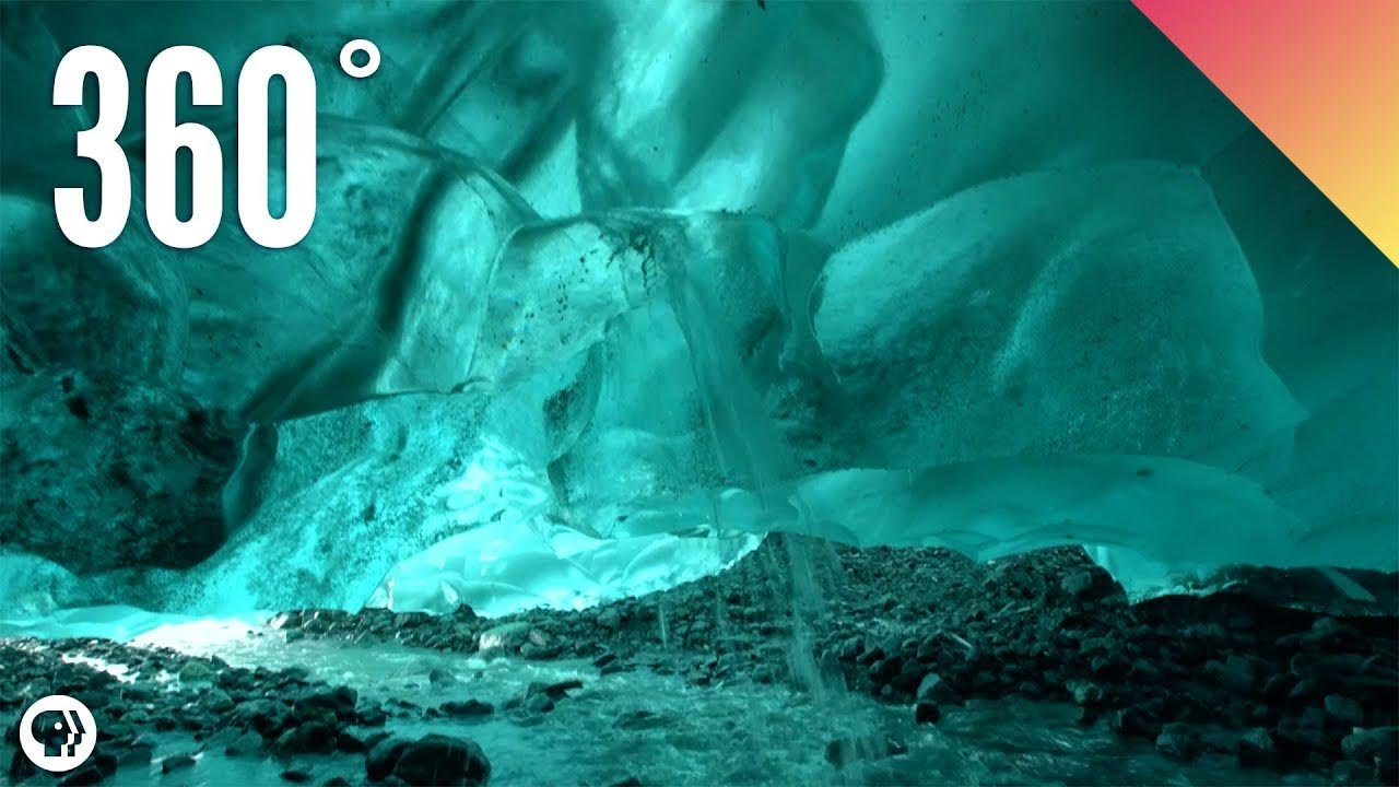 360˚ Inside an ICE CAVE!!