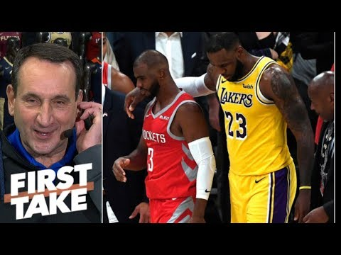 Coach K: LeBron diffusing Lakers vs. Rockets fight was 'terrific' | First Take