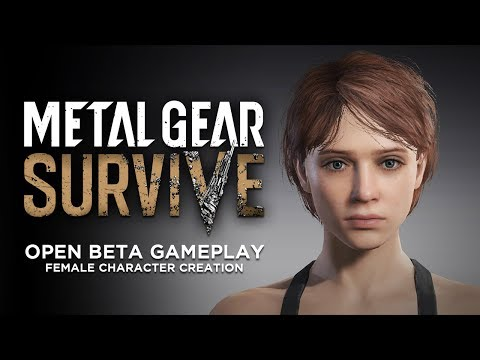 Metal Gear Survive Open Beta Gameplay - Female Character Creation