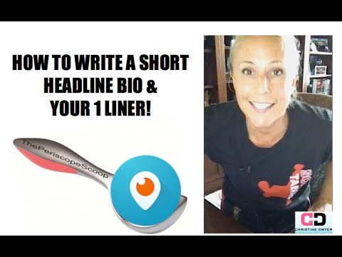 HOW TO WRITE A SHORT BIO TEMPLATE - How to Write your About Page.- Periscope