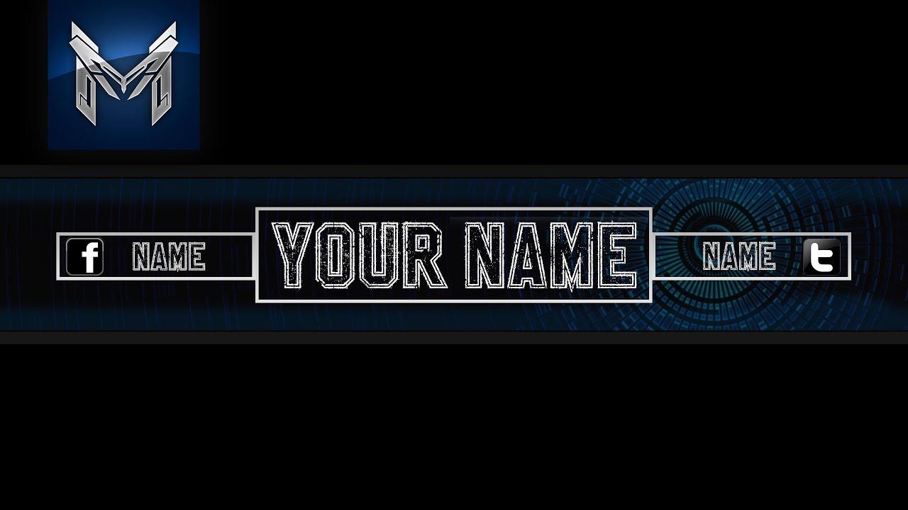 Black Blue Banner Template   Free Downland   Speed Art ( Photoshop ...