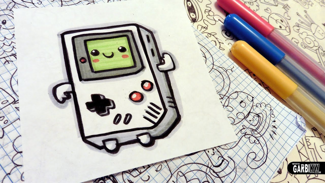 How To Draw A Cute Game Boy Easy And Kawaii Drawings By
