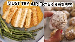VEGAN AIR FRYER RECIPES for Fall/Autumn! | Tofu Katsu Pumpkin Curry & Pumpkin Spice Donut Balls