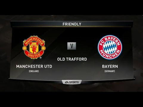 FIFA 18 | MANCHESTER UNITED VS BAYERN MUNICH XBOX ONE PS4 FULL MATCH GAMEPLAY