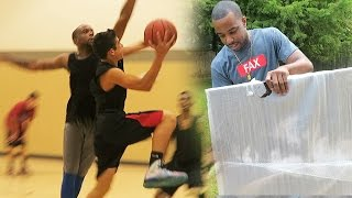 SCORE MORE THAN 3 AGAINST ME CHALLENGE! 5 vs5 IRL Basketball!BEST GIRLFRIEND SURPRISED GIFT!
