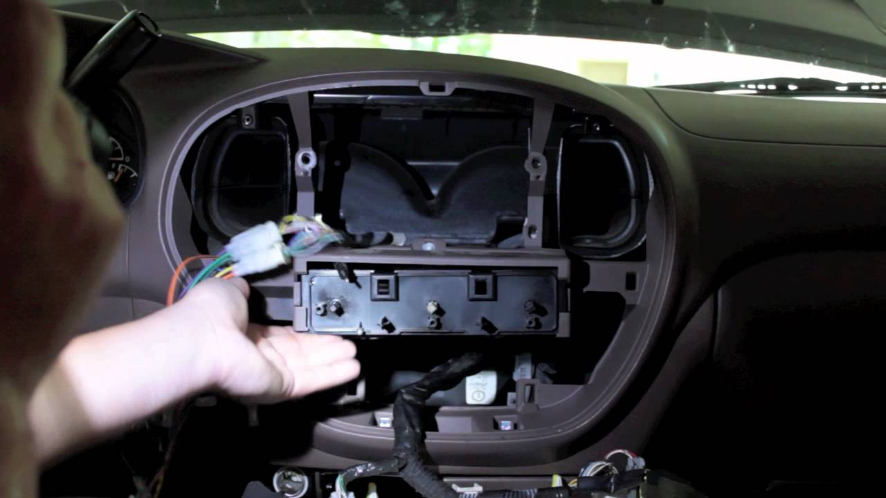maxresdefault how to replace the radio in a 2002 tundra youtube 2006 toyota tundra stereo wiring harness at fashall.co
