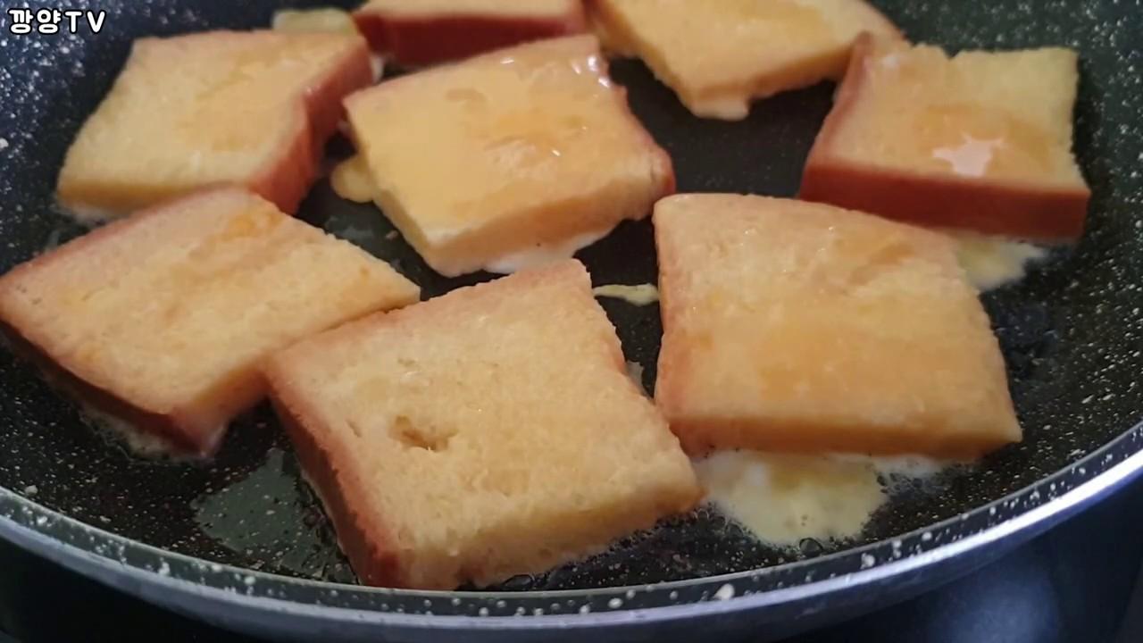 SUB) bánh mì chiên trứng kiểu Pháp : Món ăn cho bữa sáng : French Toast : 계란토스트 : 프렌치토스트