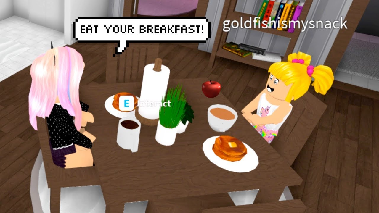 Roblox Family Morning Routine Breakfast Day Care My Job