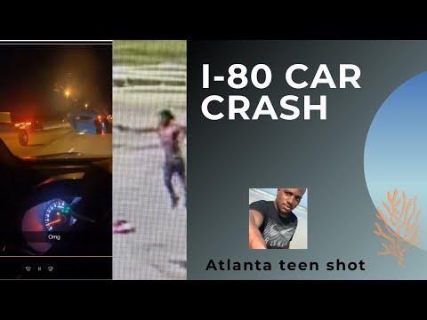 I 80 East Car crash and Atlanta teen shot