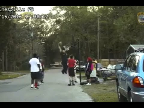 Cop Responds To Noise Complaint Of Kids Playing Basketball By Lowering Rim And Dunking On Them