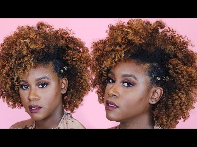 Natural Hair Clip In Hairstyle Inspired by Yara Shahidi on a Tapered Cut