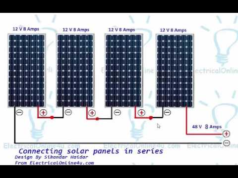 Wiring Diagram For Solar Panels 2010 Mini Cooper Fuse How To Wire In Series (urdu & Hindi) - Youtube