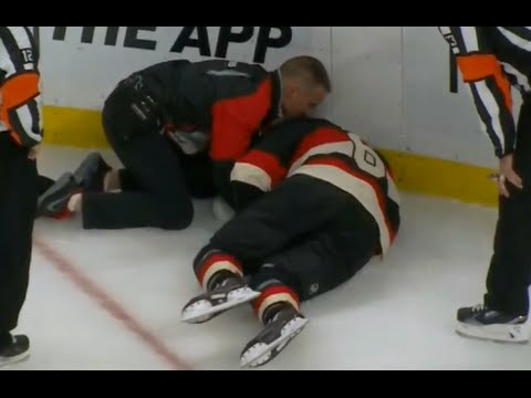 Bobby Ryan Injured After Hit from Savard - Boarding Game misconduct