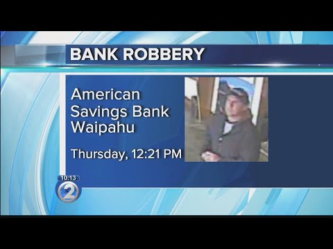 Police seek suspect in Waipahu American Savings Bank robbery