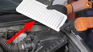 Pamoka: Kaip pakeisti Variklio oro filtras TOYOTA COROLLA E120