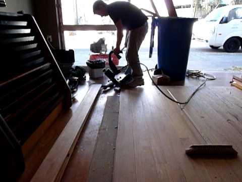 Secret Nailing A Hardwood Floor Youtube