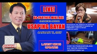 LIVE: Usaping Bayan with Kapartner Mike Abe January 11, 2017