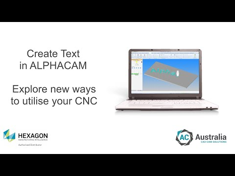 How to - Create Text with ALPHACAM