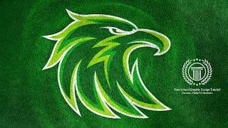 Eagle Logo Design Tutorial / esports Team Logo / Adobe illustrator / Animal Logo / Bird illustration