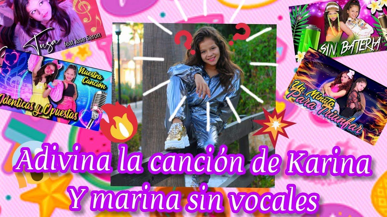 Adivina la canción de Karina y Marina con vocales nadie lo logra