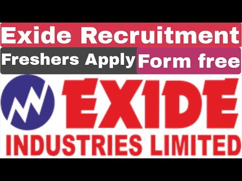 Exide Industries Limited DAT Recruitment 2019 | Private Job For Diploma | B-tech