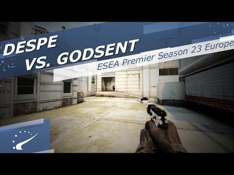 DESPE vs. GODSENT - ESEA Premier Season 23 Europe
