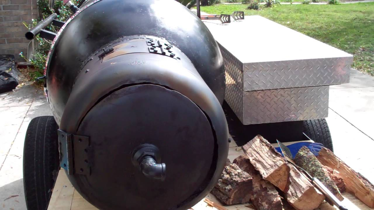 Homemade 250 Gallon Offset Smoker Youtube