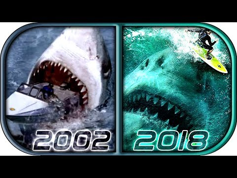 EVOLUTION of MEGALODON in Movies & TV -2018 The Meg  movie movie scene megalodon attack