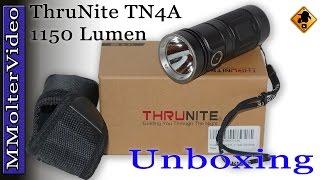 ThruNite TN4A Cool White 1150 Lumen Wasserfest LED Taschenlampe Unboxing and first look Deutsch von