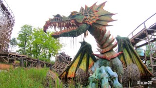 Efteling Theme Park Wooden Racer Coaster - Joris en de Draak