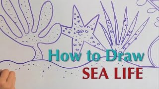 How to Draw Sea Life - Great Artist Mom - Guided Drawing